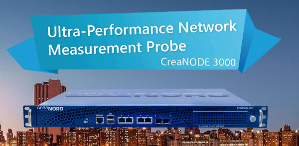 CreaNODE 3000 Centralized Network Measurement Probe for TWAMP and Y.1564